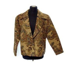 Vintage Western Tapestry 90's Floral Blazer Jacket